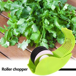 Multi-functional 6 Stainless Steel Blade Herb Rolling Mincer Practical Durable Classic Manual Scallion Vegetable Chopper