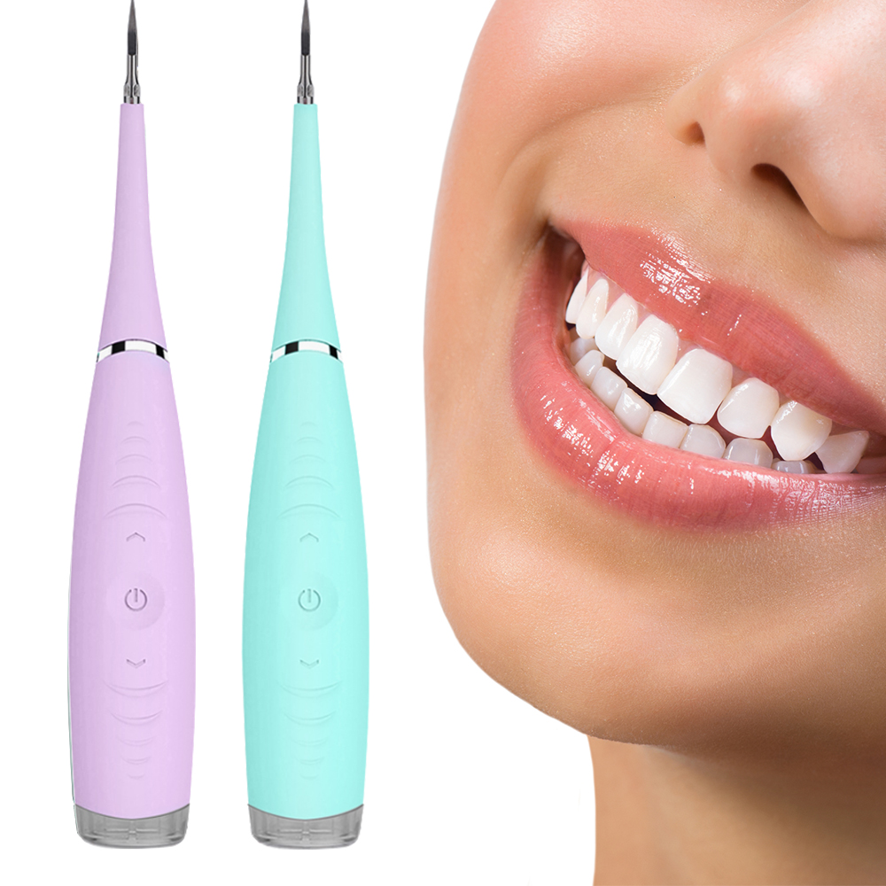 Ultrasonic Sonic Dental Scaler Calculus Plaque Remover Tool Kit Tooth Stains Tartar Cleaner Dentist Whiten Teeth Health Hygiene(China)