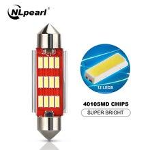 цена на NLpearl 2x Signal Lamp 12V 5W C5W Led Bulb Festoon LED 31mm 36mm 39mm 41mm C10W Canbus Car Interior Dome Lights Reading Light