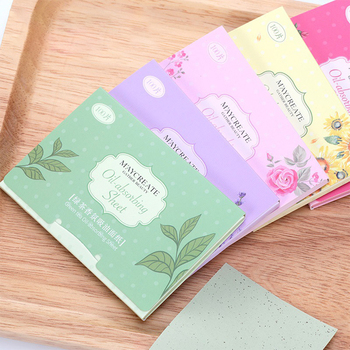 100pcs Korea Fragrant Tissue Paper Face Oil Absorbing Paper Plant Fibres Breathable Blotting Handkerchief Color Random Delivery 1