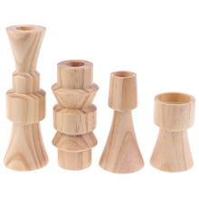 Candlesticks-Holders Fashion-Design Wedding-Decorations Wood Classic 1pcs Craft