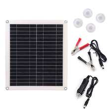 25W Polycrystalline Flexible Solar Panel Battery Charger Kit Double USB Port for Mobile Phone Charging(China)