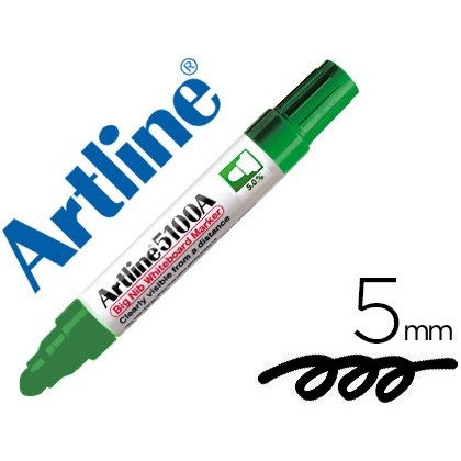 MARKER ARTLINE SLATE EK-5100 GREEN-ROUND TOE 5 MM 6 Units