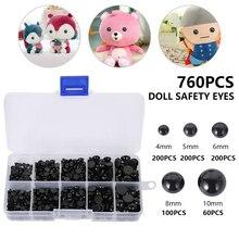 Eyeball Doll Accessories Black Plastic Plush Safety Eyes Amigurumi For Teddy Bear Toys 4mm 5mm 6mm 8mm 10mm DIY Safety Eyes