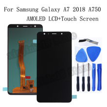 AMOLED LCD For Samsung Galaxy A7 2018 A750 A750F SM A750F A750FN A750G LCD Display Touch Screen Digitizer Assembly replacement