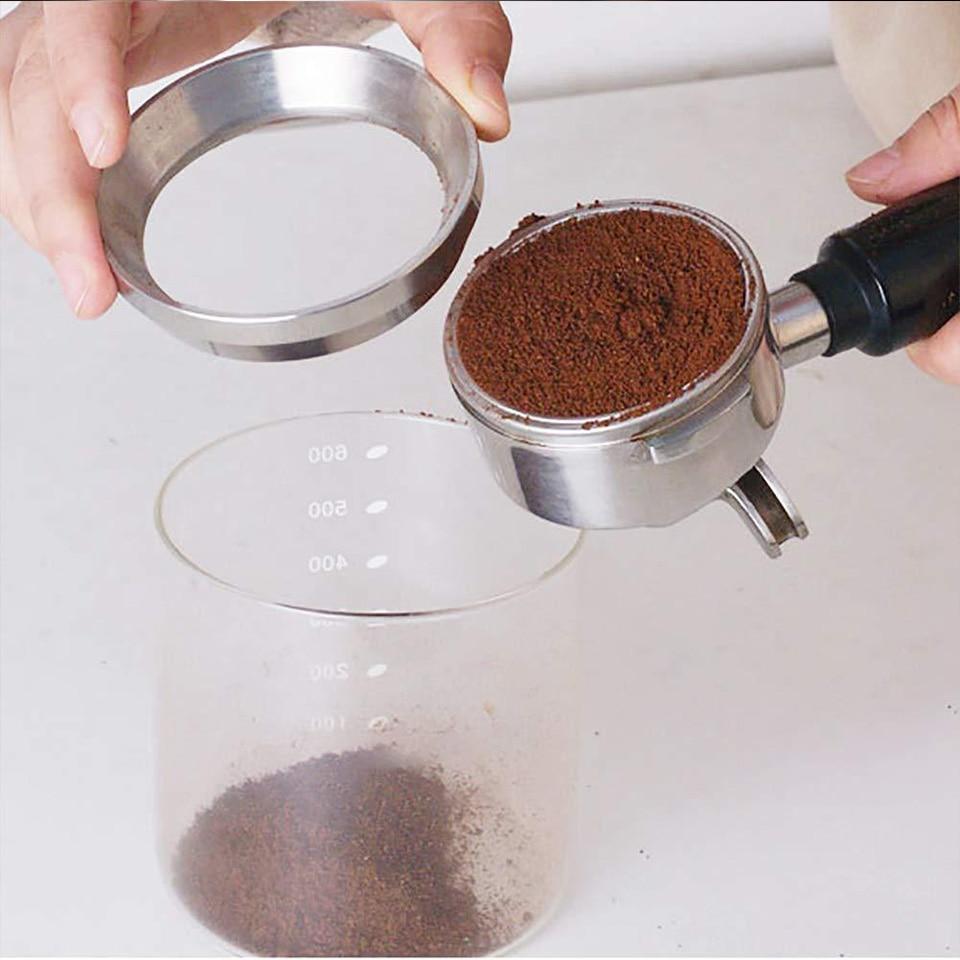 compatible con portafiltro para uso dom/éstico y de caf/é color plata 54//58 mm de acero inoxidable 54 mm SHINROAD Embudo dosificador para caf/é espresso
