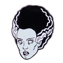 Regalo de la película de terror de Halloween vintage pin esmalte de la novia de Halloween