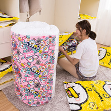 Durable Vacuum Storage Bags Clothes Quilt Organizer Cute Duck Wardrobe Closet Compression Pouch Travel Saving Space Package