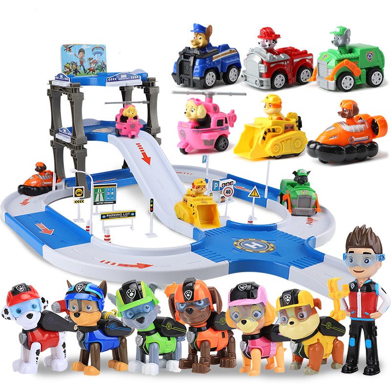 Paw Patrol Toys Set Patrol Dog Track Car Toy Patrulla Canina Juguetes Action Figures Toys Kids Paw Patrol Birthday Gift