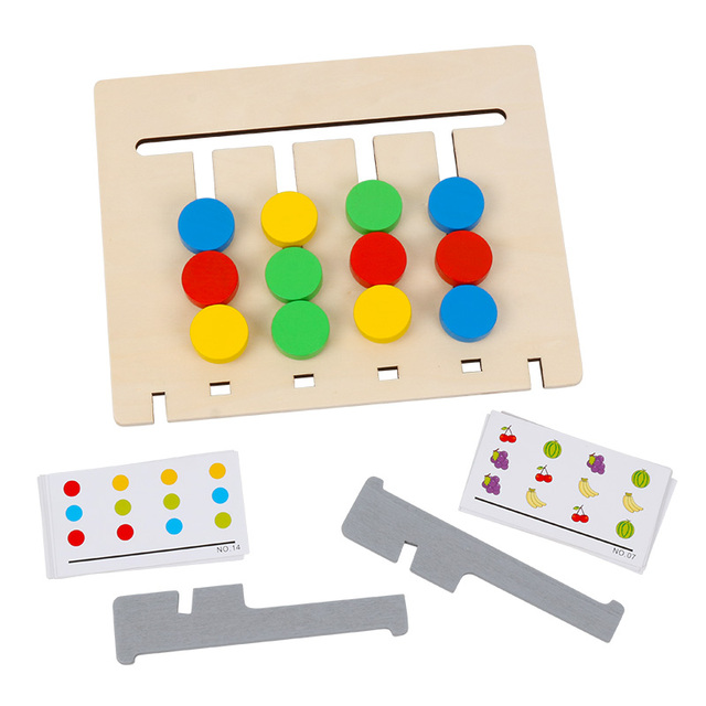 Double-sided-Color-and-Fruit-Pairing-Game-Children-Wooden-Toys-Logical-Reasoning-Training-Kids-Educational-Toys