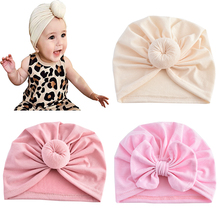 0-3Years Old Toddler Newborn Baby Flower Bow-Knot HeadbandTurban Spring Infant Protect Forehead Cap Headwraps Kids Hat Beanies cheap raindo CN(Origin) COTTON Polyester Headbands Unisex Spring and Summer Solid Children Decorate Casual 2789 Spring2021 Fashion