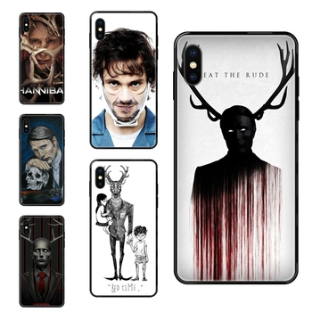Cool Graham Hannibal Mads Mikkelsen For Huawei Honor 20 20i 20s 10 10i 6A 7A 7X 8C 8X 9 9A 9I 9X Lite Pro Womens Black Soft TPU image