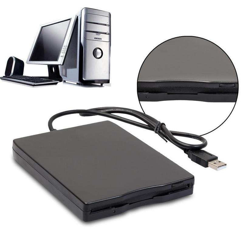 Hannord Portable 3.5inch Mobile USB Floppy Disk Drive 1.44M External Diskette FDD for Laptop Computer PC USB Drive Plug and Play 3