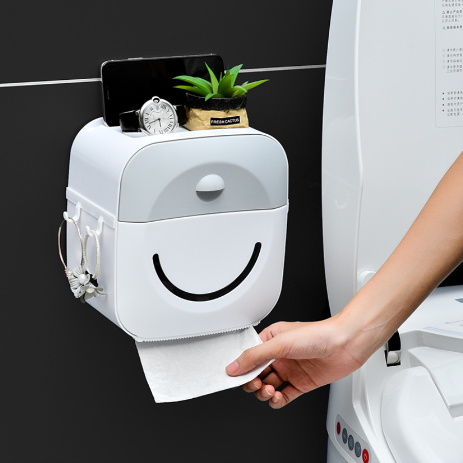 Toilet Roll Holder Waterproof Paper Towel Holder Wall Mounted  Roll Paper Stand Case Tube Storage Box Bathroom Accessories