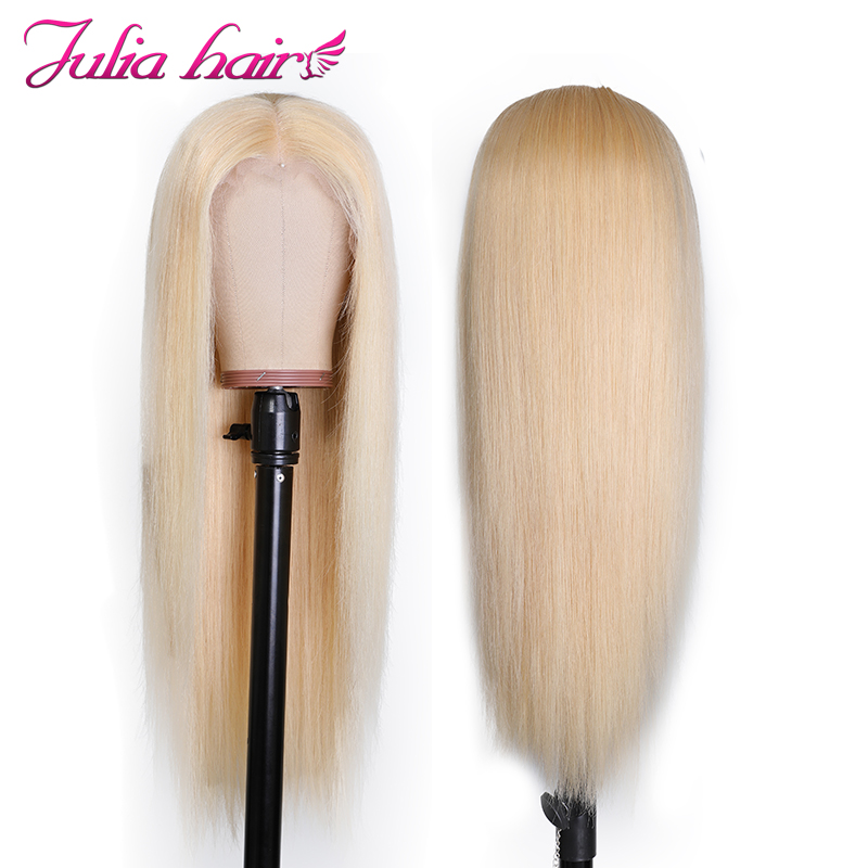 Ali Julia Hair 13x4 13x6 Inch  #613 Blonde Transparent Lace Front Wig Brazilian Straight Human Hair Wigs 150% Density Remy
