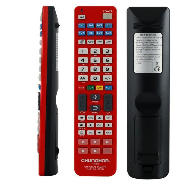 Mando a distancia Universal 8 en 1 para TV, CBL, SAT, VCR, DVD, AMP, chunghome, e885, novedad