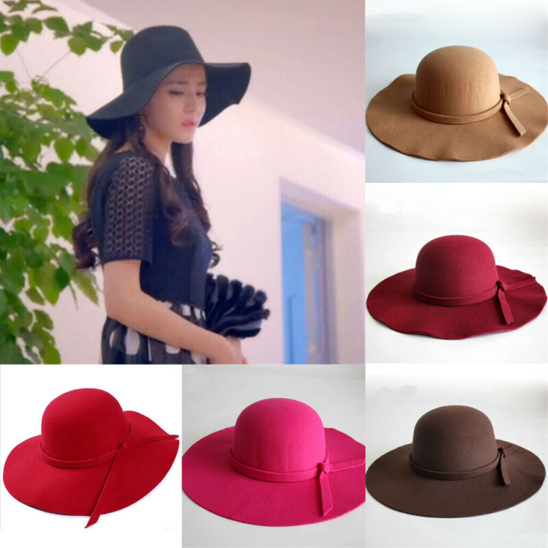 Fashion Women Sun Hats Female Ribbon Bow-knot Wide Brim Beach Hat Casual Summer Shade Anti Uv Cap 2019
