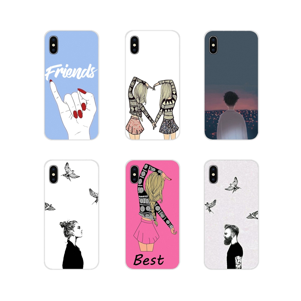 Accessories Phone Cases Covers Best Friend Girlfriend Boyfriend For Motorola Moto X4 E4 E5 G5 G5S G6 Z Z2 Z3 G G2 G3 C Play Plus image