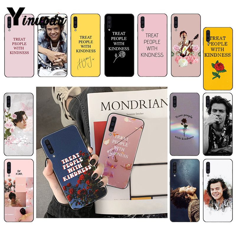 Yinuoda Harry Styles Treat people with kindness Phone <font><b>Case</b></font> For <font><b>Samsung</b></font> <font><b>Galaxy</b></font> A7 A50 A70 <font><b>A40</b></font> A20 A30 A8 A6 A8 Plus A9 2018 image