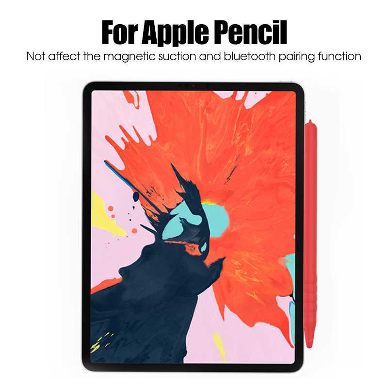 หมีน่ารักรูปแบบซิลิโคนป้องกันสำหรับ Apple ดินสอ 2 Stylus TIP ผู้ถือสำหรับดินสอ iPad 2ND อุปกรณ์เสริม