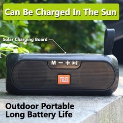 Solar Power Outdoor Draagbare Speaker Bluetooth Caixa De Som Portatil Fm Radio Tws Muziek Speler Boombox Usb Speakers Enceinte