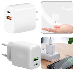20W PD Fast Charger For iPhone 12 USB 3.0 PD20W Travel Fast Charging Power Adapter USB Wall Charger EU US Plug for Phone Charge