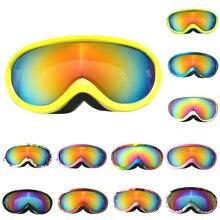 Лыжные очки, детские лыжные очки, зимние защитные очки, детские очки для сноуборда, очки с защитой от уф400 лучей, снежные противотуманные лыжные маски