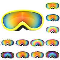 Ski Brille Kinder Skifahren Gläser Winter Brille Kinder Snowboard Brille Gläser UV400 Schutz Schnee Anti-fog Ski Maske
