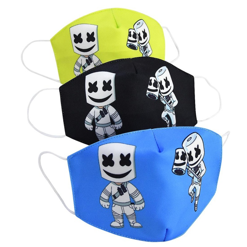3pieces Maska Dustproof Mouth Face Mask Adult Kid Cartoon Cover Women Men Muffle Face Mouth Masks