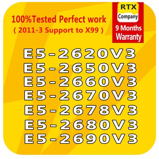 E5 2640V3 2623v3 2609v3 2603v3 E5 2637v3 2643v3 2658v3 2678v3 E5 2690v3 6/10/12 コアLGA2011 3 インテルxeonプロセッサe5 cpuサーバー
