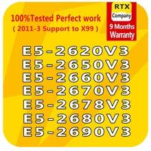 E5 2640V3 2623v3 2609v3 2603v3 E5 2637v3 2643v3 2658v3 2678v3 E5 2690v3 6/10/12 النواة LGA2011 3 معالج إنتل زيون E5 وحدة المعالجة المركزية الخادم