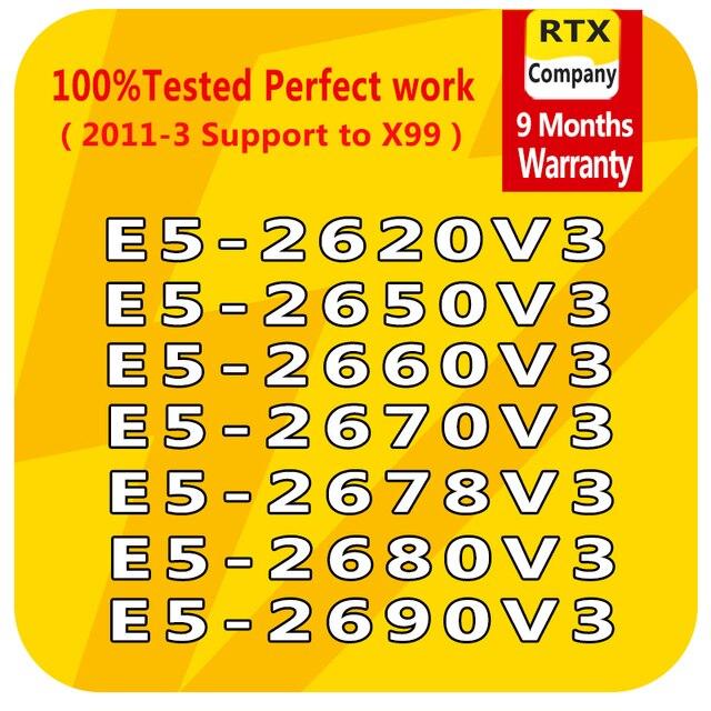 E5 2640V3 2623v3 2609v3 2603v3 E5 2637v3 2643v3 2658v3 2678v3 E5 2690v3 6/10/12core LGA2011 3 Intel Xeon מעבד e5 מעבד שרת