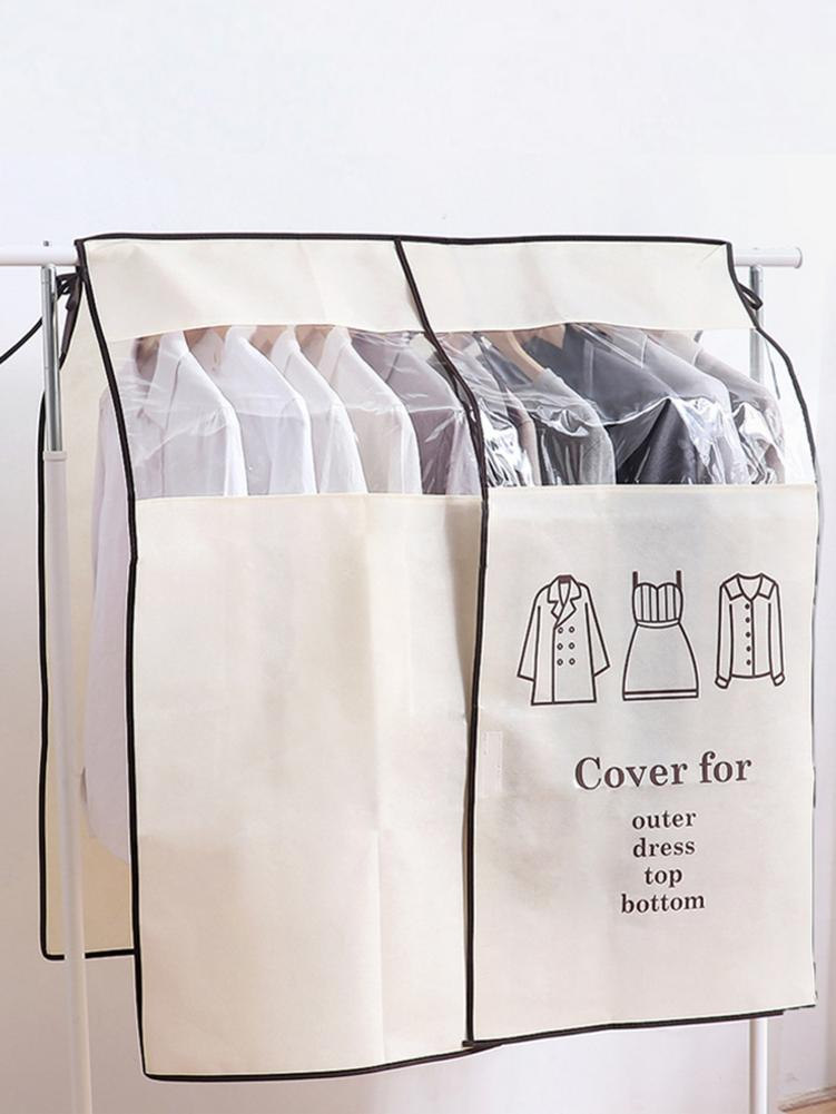 Travel Dust Cover For Clothes Suit Dress Garment Breathable Non-woven Fabric