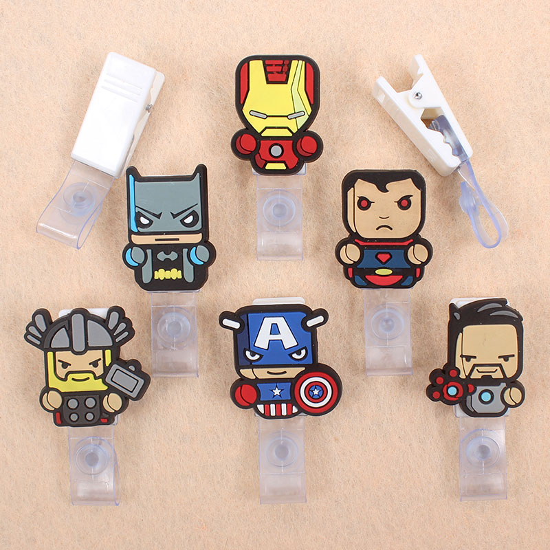Cartoon Iron People Man Badge Holder Plastic Clip Of Work Cover Student Badge Reel Nurse Exhibition Enfermera Name Card For Boys