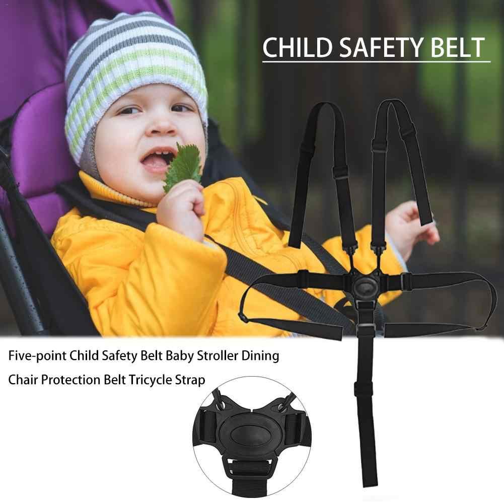 Cinturón de seguridad para cochecito de bebé, silla de comedor para niños, triciclo para niños, cinturón de protección para cochecito de bebé, cinturón de seguridad de cinco puntos