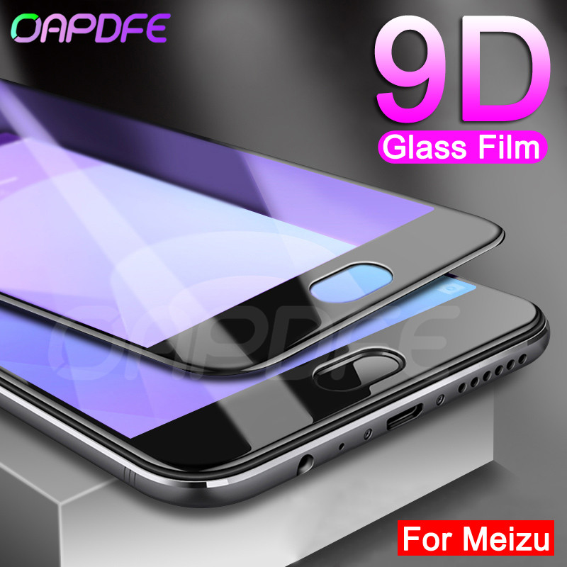 9D Protective Glass on the For <font><b>Meizu</b></font> M8 Lite M6S M6T M5S <font><b>M5C</b></font> V8 Pro M8 M6 M5 Note Screen Protector Tempered Glass Film Case image