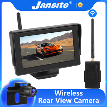 diysecur wireless 4 3 inch car reversing camera kit back up car monitor lcd display hd car rear view camera parking system Jansite wireless backup camera 4.3 inch TFT LCD car monitor reversing camera wireless with monitor rear view camera for car