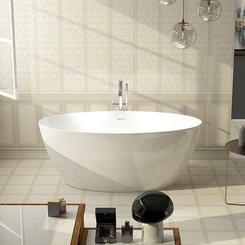 Banheira acrílica de aojin, banheira profunda da borda fina do casal da banheira do estilo europeu independente 1500mm