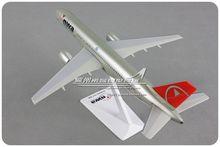 24cm american northwest airlines nwa boeing B757-200 1: 200 modelo de aeronaves de montagem plástica para adulto criança presente de aniversário de natal