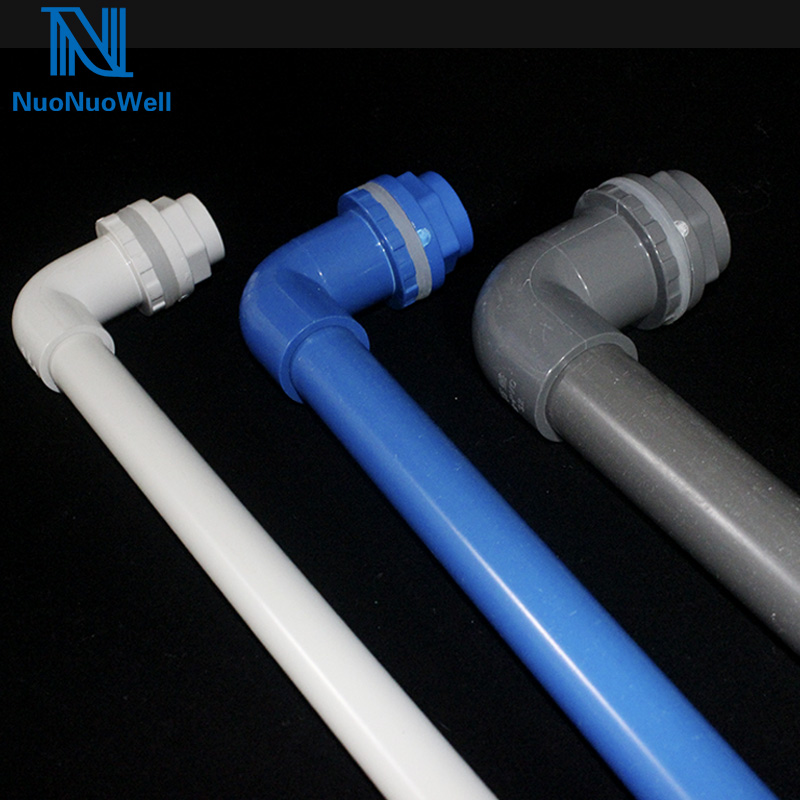 Water Tank L Type Drainage Aquarium 90 Degree Elbow Bulkhead Connector 20/25/32mm PVC  Pipe Joints Outlet Drain Fitting