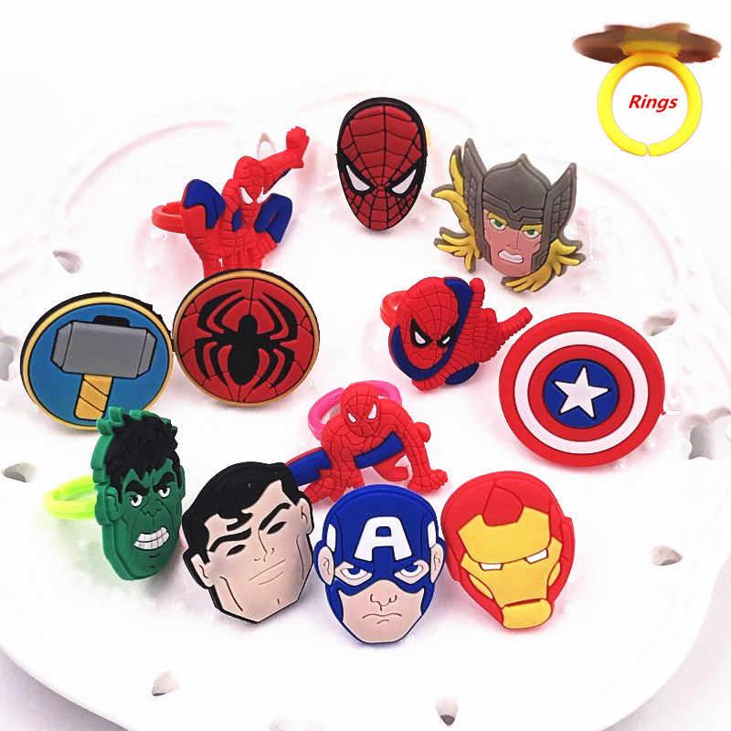 1 pçs the marvel vingadores dos desenhos animados anime homem de ferro homem aranha hulk meninos anéis de dedo crianças presentes festa jóias moda acessórios