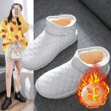 Новинка 2020 женские теплые зимние ботинки из натурального Лисьего