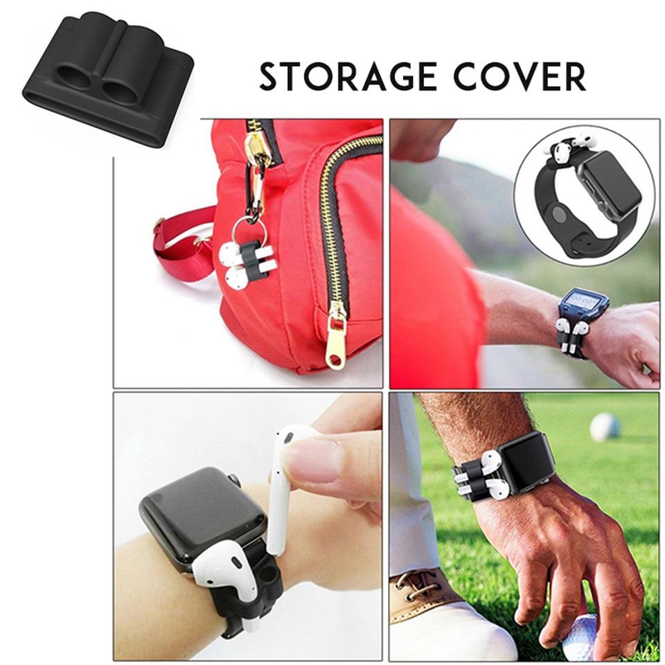 6 in 1 case lanyard carabiner case protective for AirPods headphone - Audio dan video mudah alih - Foto 5