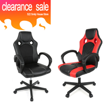 BIG SALE Adjustable Double hole Basic Esports Chairs Modern Office Chair Ergonomic High Back Faux Leather Computer Chairs HWC