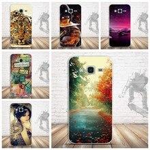 Para samsung galaxy j5 caso, luxo 3d alívio pintura silicone macio capa traseira caso para samsung j5 (2015) j500f telefone capas saco