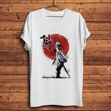 Samurai descendiente Sakata Gintoki GINTAMA gracioso camiseta anime homme nuevo t camisa de los hombres casuales camiseta unisex manga streetwear