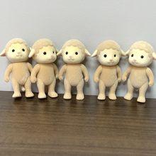 5 unidades/pacote ovelhas sem pano ovelhas família mãe figuras anime caixa bonecas brinquedos criança diy role playing presente