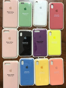 Original LOGO Silicone Case For iPhone XR X XS Max Case For Apple iPhone 7 8 Plus 6 6S