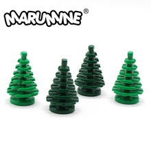 MARUMINE Small Spruce Tree Compatible 2435 City Stalk Grass Flower City Part Classic Bricks Construction Educational Toys