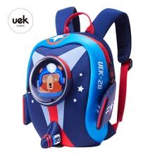 UEK Kids Backpack School Bags Aircraft Airplane Design Boy Girls Cartoon Shaped Cute Toddle Mochila Baby Kindergarten Schoolbag